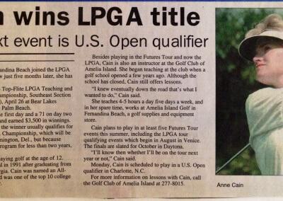 LPGA win by Anne Cain