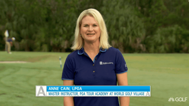 Anne Cain Tips on the Golf Channel | The Knockdown Shot