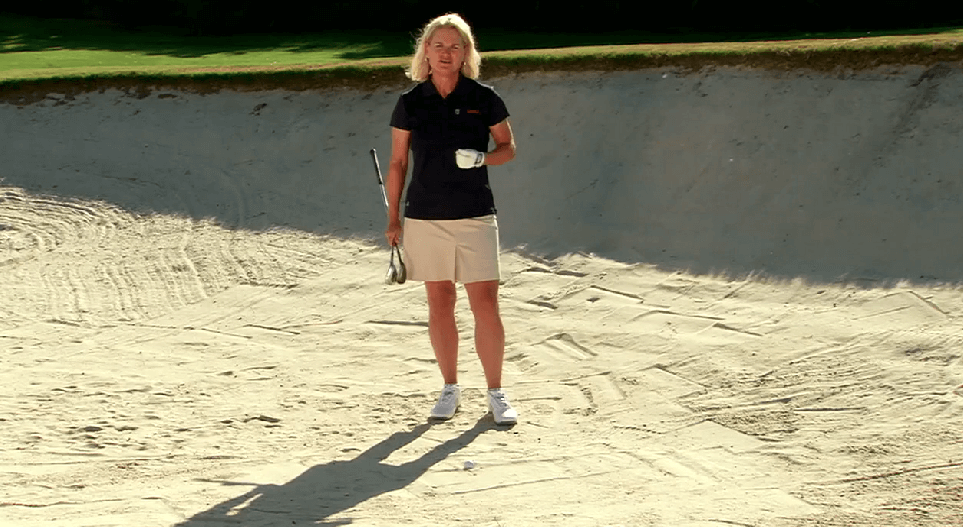 Hitting out of Fluffy Sand | Anne Cain Tip Golf Channel