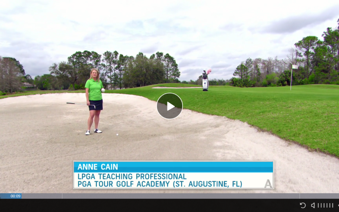 Golf Instructor Anne Cain Shares A Bunker Tip That Appears On Golf